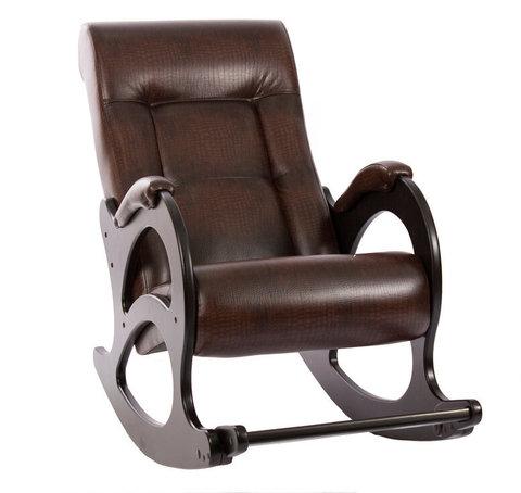 Кресло-качалка Комфорт Модель 44 б/л венге/Antik Crocodile