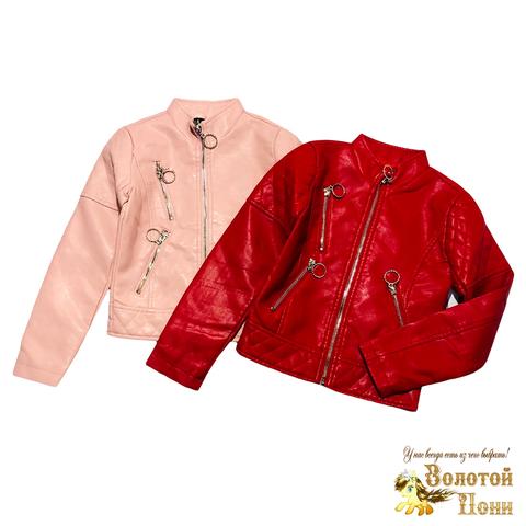 Куртка эко-кожа девочке (5-10) 210130-К2050