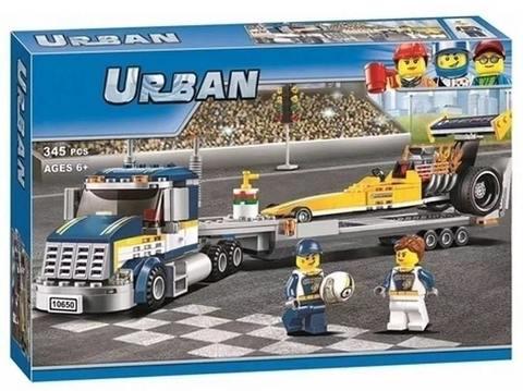 Конструктор Urban 10650 Грузовик для перевозки драгстера