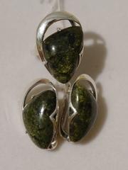 Клари(кольцо + серьги из серебра)