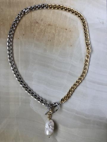 Колье Аутона, позолота и серебряный цвет