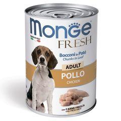 """Консервы для собак Monge Dog Fresh Chunks in Loaf """"мясной рулет"""" курица"""