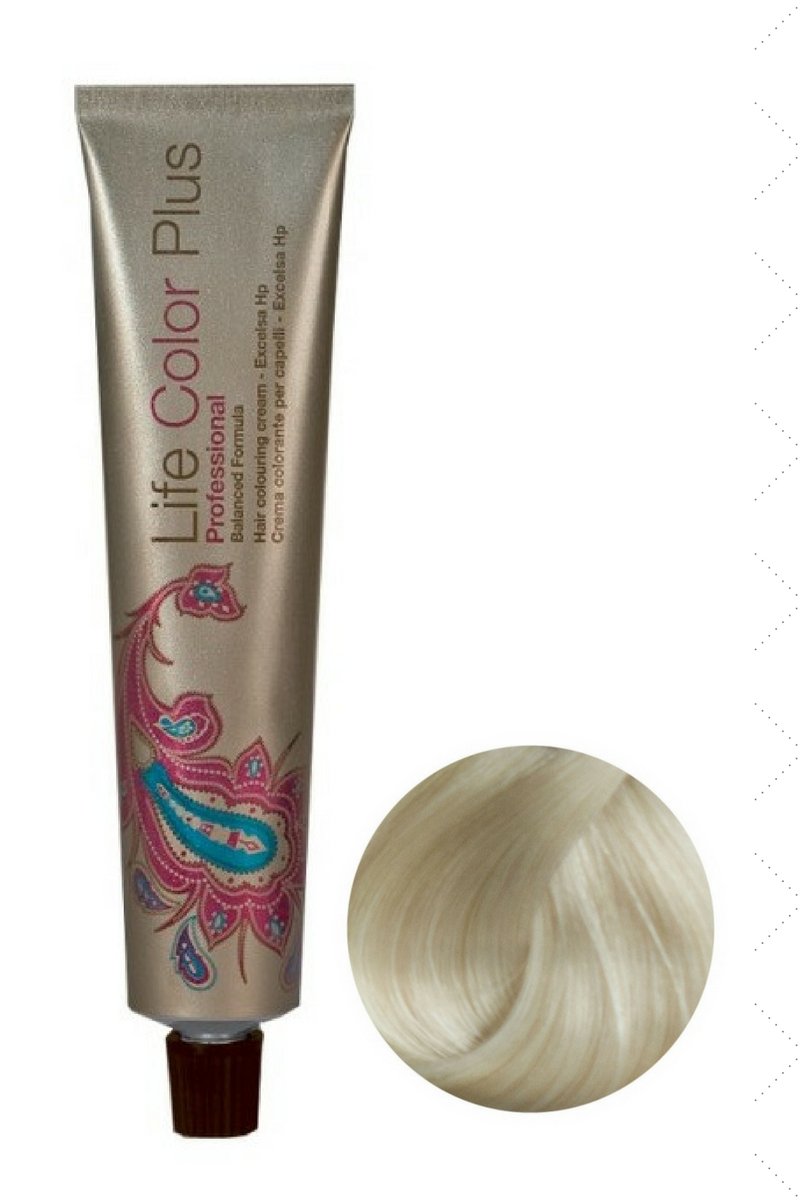Крем-краска 10.02 Платиновый блондин жемчужный Life Color Plus FarmaVita, 100 мл