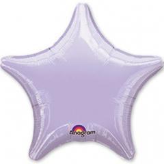 шар звезда 46 см однотонный