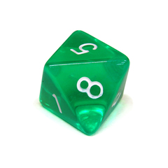 Куб D8 прозрачный: Зеленый