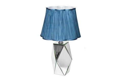 KFE001 Лампа настольная с зерк.вставками 380*380*610мм плаф.сер.