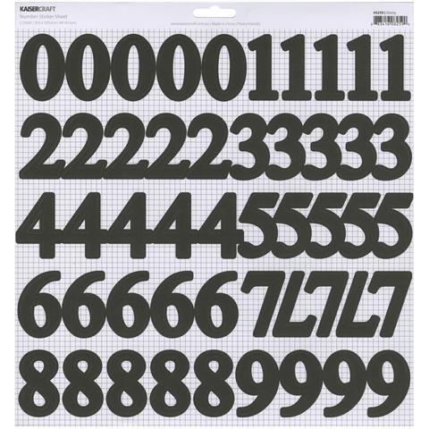 Стикеры алфавит Kaisercraft Number Stickers 30*30 см