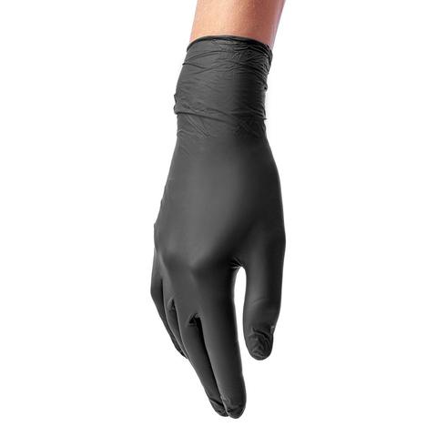 Перчатки ЧЕРНЫЕ НИТРИЛОВЫЕ Benovy, размер L