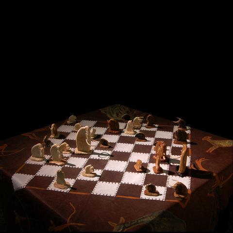 Шахматный набор «Наскальная живопись»