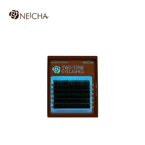 Ресницы NEICHA нейша MIX 6 линий двухцветные черно-зеленые
