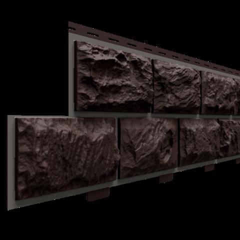 Фасадные панели (Цокольный Сайдинг) Доломит Альпийский Прокрашенный Корица