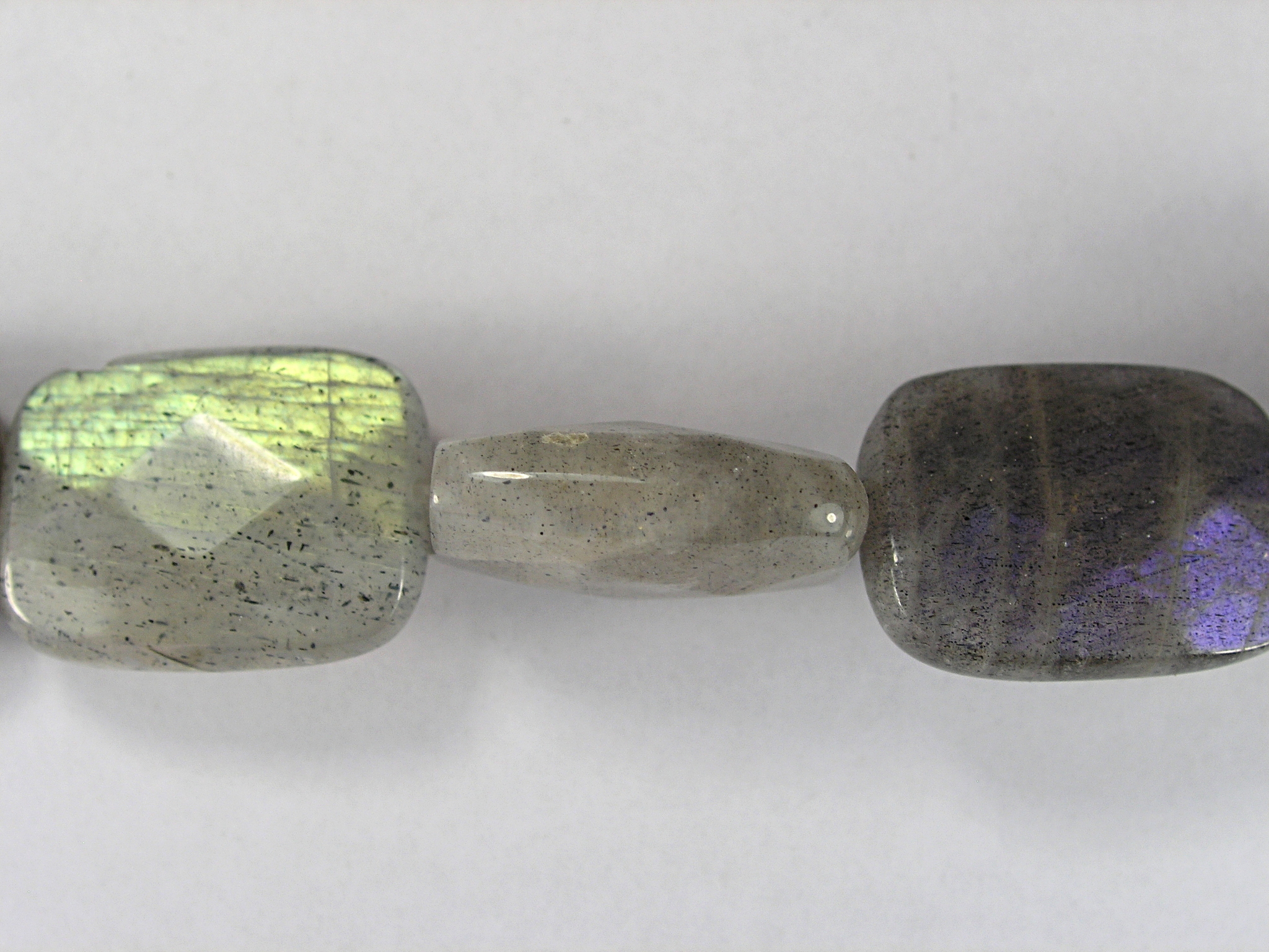 Бусина из лабрадора (спектролита), фигурная, 13x18 мм (прямоугольник, граненая)