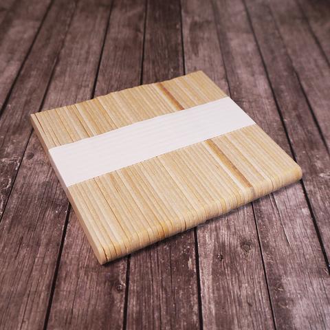 Палочки деревянные для мороженого 93*10мм,50шт
