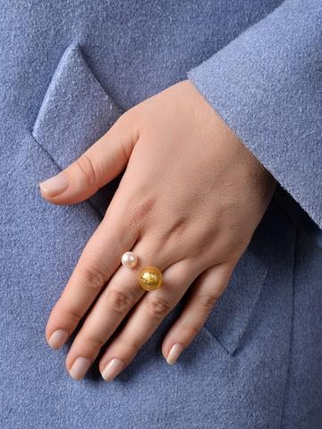 Кольцо Carlotta золотистое