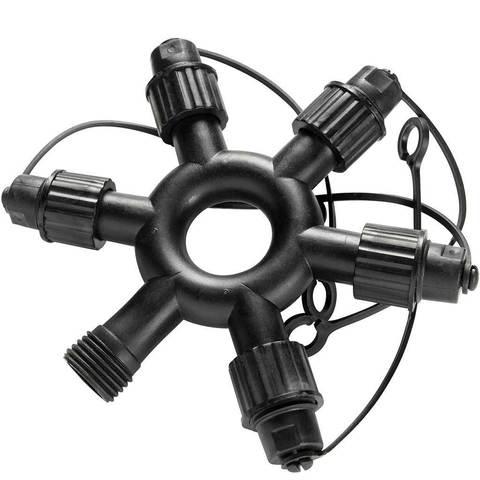 штекер на пять веток для гирлянды нить разветвитель LED