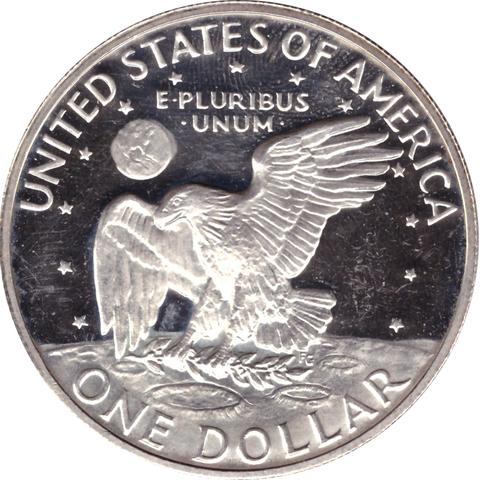 1 доллар 1972 (S) (Лунный) PROOF Серебро