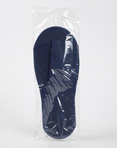 Тапочки синие 4 мм на жесткой подошве в Инд упаковке 1 пара закрытый мыс
