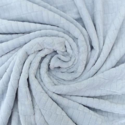 Плюш  двухсторонний серо-голубой  (отрез 210х160) см