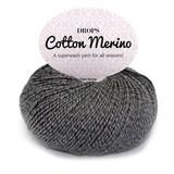 Пряжа Drops Cotton Merino 19 темно-серый