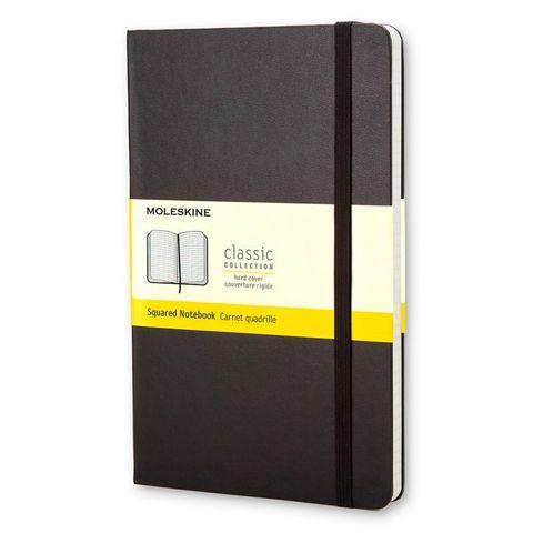 Блокнот Moleskine CLASSIC MM712 Pocket 90x140мм 192стр. клетка твердая обложка черный