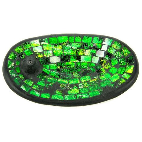 Подставка под благовония Green, 13*21 см, керамика/стекло