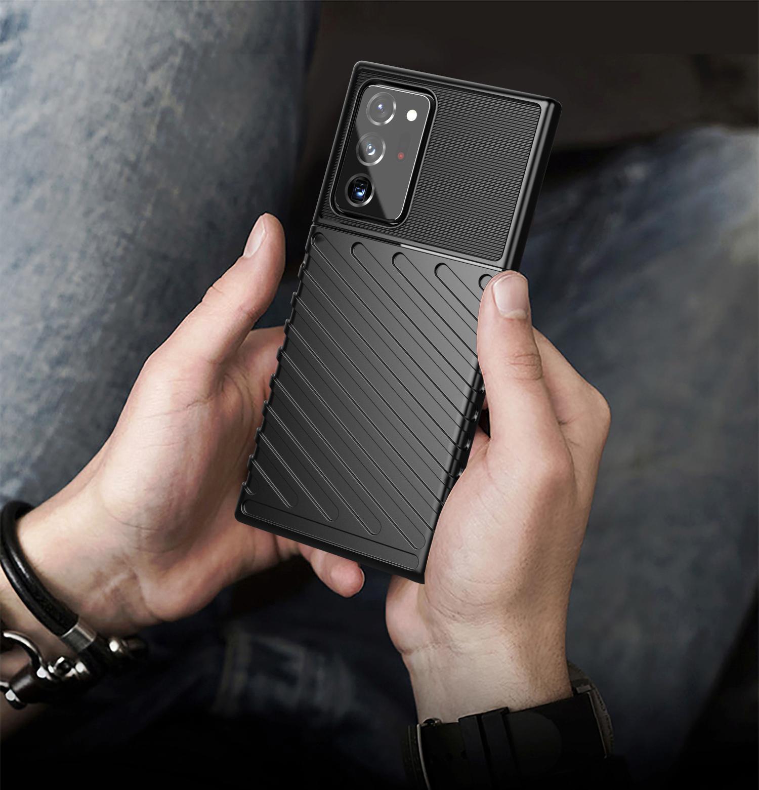 Чехол черный на телефон Samsung Galaxy Note 20 Ultra, противоударный, серия Onyx от Caseport