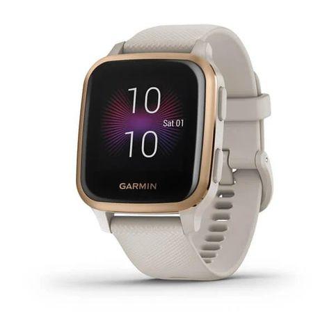 Купить Смарт часы Garmin Venu Sq Music Edition песочный с алюминиевым безелем цвета розовое золото 010-02426-11 по доступной цене