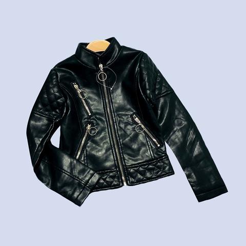 Куртка эко-кожа девочке (5-10) 210130-К2051