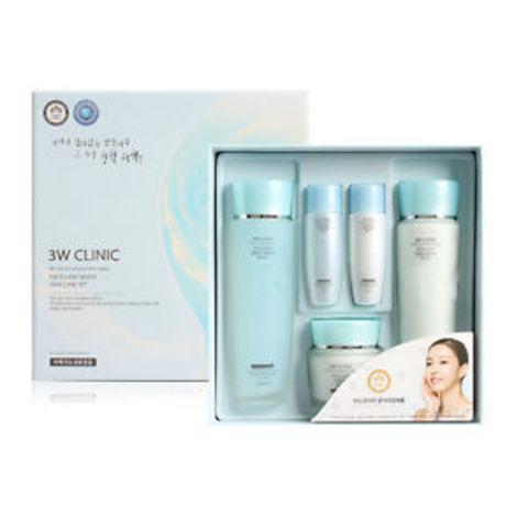 3W CLINIC Excellent White Skincare 3 kit Set Набор из 3 средств c функцией интенсивного ОСВЕТЛЕНИЯ (тоник, эмульсия, крем)
