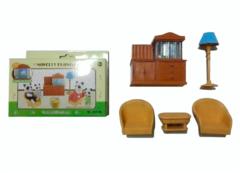 Фотография кукольной гостиной с аквариумом Happy Family 8016B