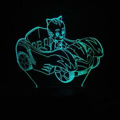 3D светильник с пультом Герои в масках Кэтбой — 3D light remote control PJ Masks