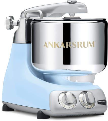 Тестомесильная машина-миксер большой мощности с 2 чашами Ankarsrum, голубой