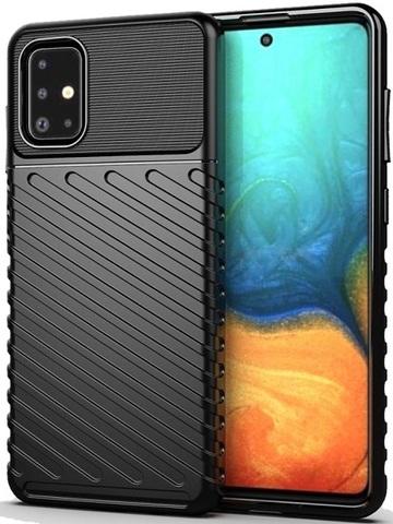 Чехол Carbon для Samsung Galaxy A71 серия Оникс | черный