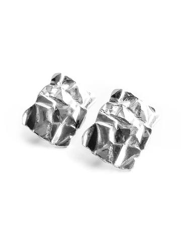 Серебряные серьги прямоугольники