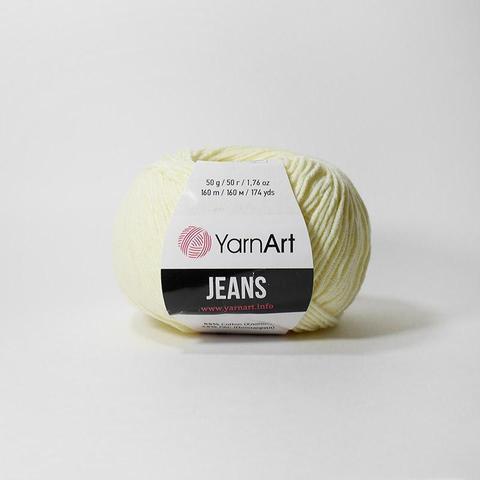 Пряжа YarnArt JEANS 86 бледно желтый