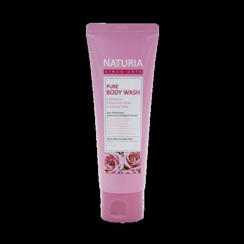 EVAS Naturia Pure Body Wash Rose & Rosemary гель для душа с нежным ароматом розовой воды, смешанной с лепестками жасмина и розмарином