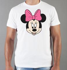 Футболка с принтом Минни Маус (Minnie Mouse) белая 007