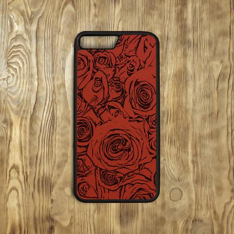 """Бампер """"Много роз"""", красный"""