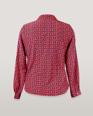 Блузка HAT рубашка карман орнамент