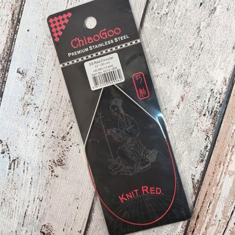 Спицы ChiaoGoo круговые анатомические на тросе 30 см