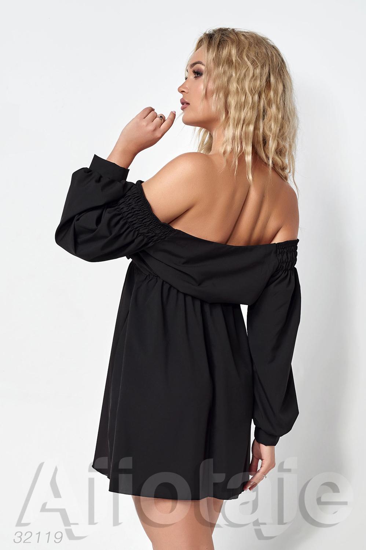 Платье мини с открытыми плечиками
