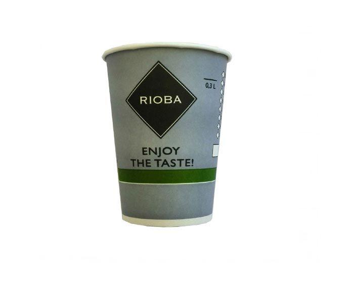Одноразовый стакан для кофе Rioba 300 мл (50 шт)