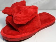 Пушистые тапочки женские красные Yes Mile A-08 Red Bow.
