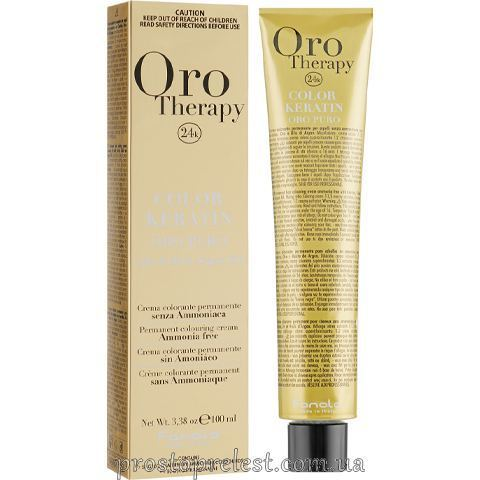 Fanola Oro Therapy Color Keratin 100 ml - Безаміачна крем-фарба 100 мл