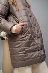 Пальто на кнопках кофе
