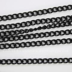 Цепь (цвет - черный никель), звено 3х2 мм