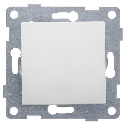 Выключатель/кнопка звонка одноклавишный, 10 А 220/250 В~. Цвет Белый. Ugra GUSI Electric. С11В6-001