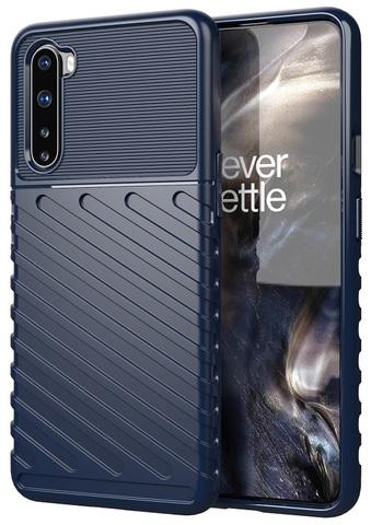 Ударопрочный чехол темно-синего цвета на OnePlus Nord, серия Onyx от Caseport