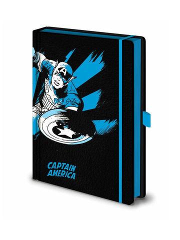 Записная книжка Marvel Comics (Captain America Mono) Premium A5 SR72506