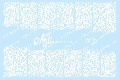 Слайдер наклейки Arti for you цвет белый №W17 купить за 100руб